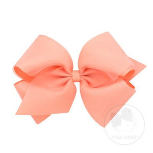 WEE ONES OVERLAY CORAL BOW LCR