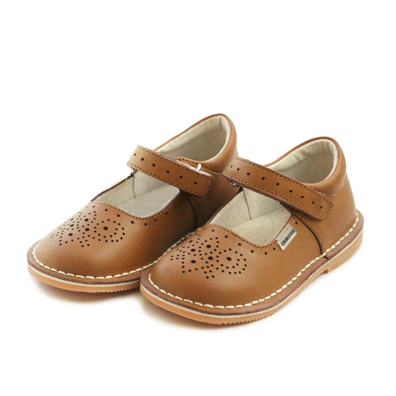LAMOUR- OLLIE STITCH DOWN LEATHER MARY JANE BROWN