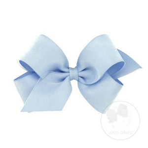 WEE ONES GROSGRAIN BLUE BOW BLU