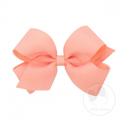 WEE ONES GROSGRAIN LIGHT CORAL BOW LCR