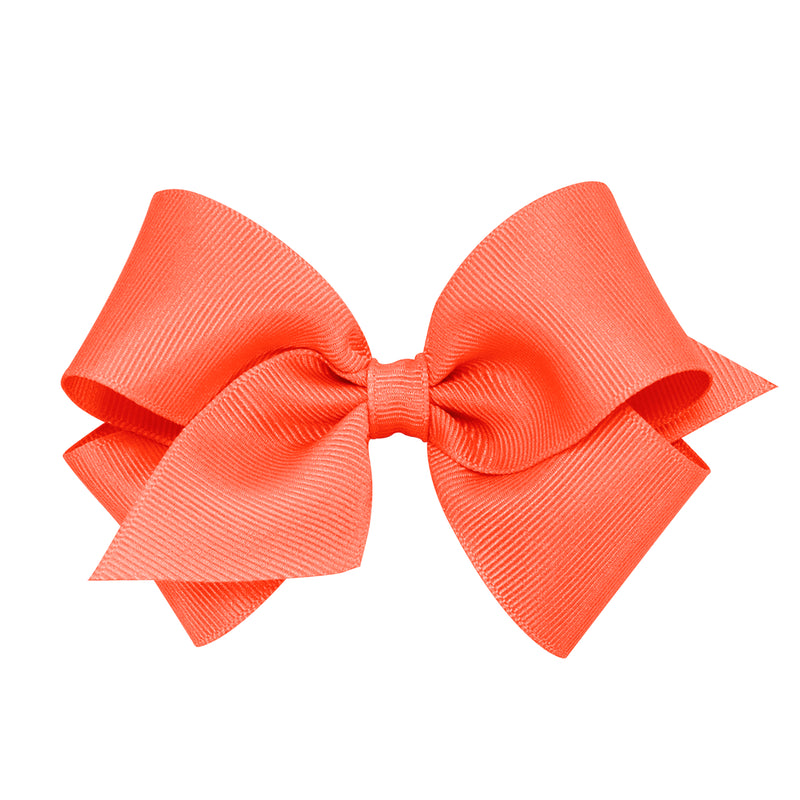 WEE ONES GROSGRAIN LIVING CORAL BOW LCL