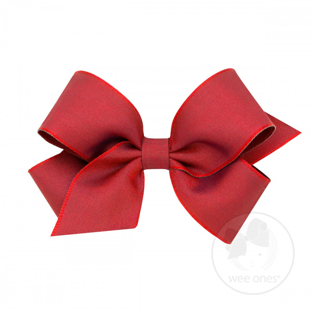 WEE ONES GROSGRAIN CRANBERRY BOW CRB