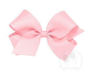 WEE ONES GROSGRAIN LIGHT PINK BOW LPK