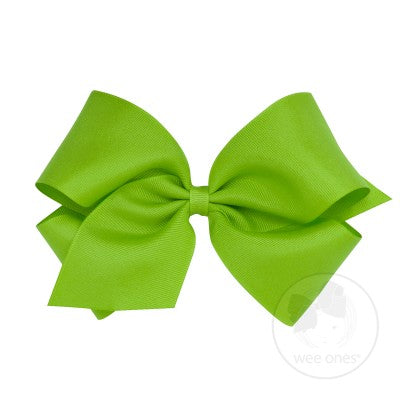WEE ONES GROSGRAIN APPLE GREEN BOW APG