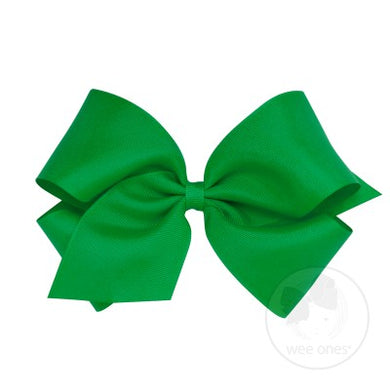 WEE ONES GROSGRAIN GREEN BOW GRN