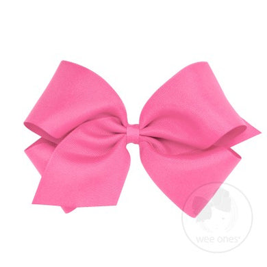 WEE ONES GROSGRAIN HOT PINK BOW HPK