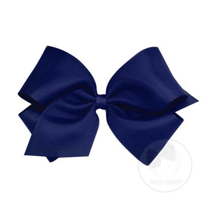 WEE ONES GROSGRAIN LIGHT NAVY BOW LNV