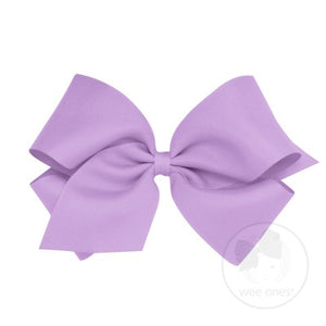 WEE ONES GROSGRAIN LIGHT ORCHID BOW LOR