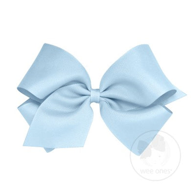 WEE ONES GROSGRAIN MILLENNIUM BLUE BOW MIB