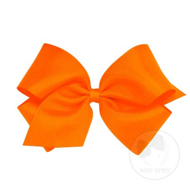 WEE ONES GROSGRAIN ORANGE BOW ORG
