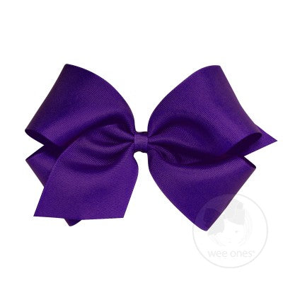 WEE ONES GROSGRAIN PURPLE BOW PUR