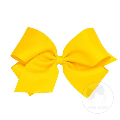 WEE ONES GROSGRAIN YELLOW BOW YEL