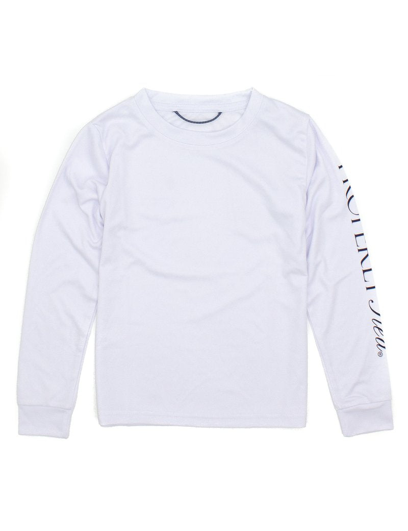 PROPERLY TIED TIDAL LONG SLEEVE RASHGUARD WHITE
