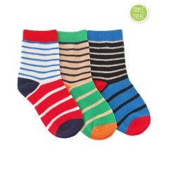 JEFFERIES SOCKS BOYS STRIPE CREW