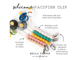 BELLA TUNNO OATMEAL PACIFIER CLIP