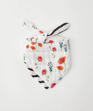 LITTLE UNICORN COTTON MUSLIN REVERSIBLE BANDANA BIB- WILD MUMS