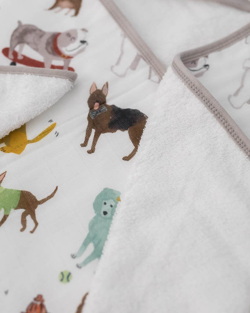 LITTLE UNICORN HOODED TOWEL SET- WOOF