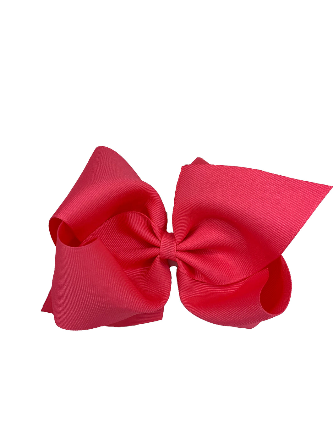 WEE ONES GROSGRAIN SHOCKING PINK BOW SPK