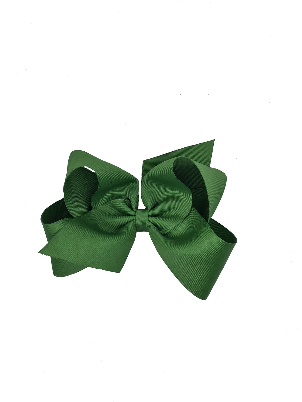 WEE ONES GROSGRAIN LEAF GREEN BOW LEF