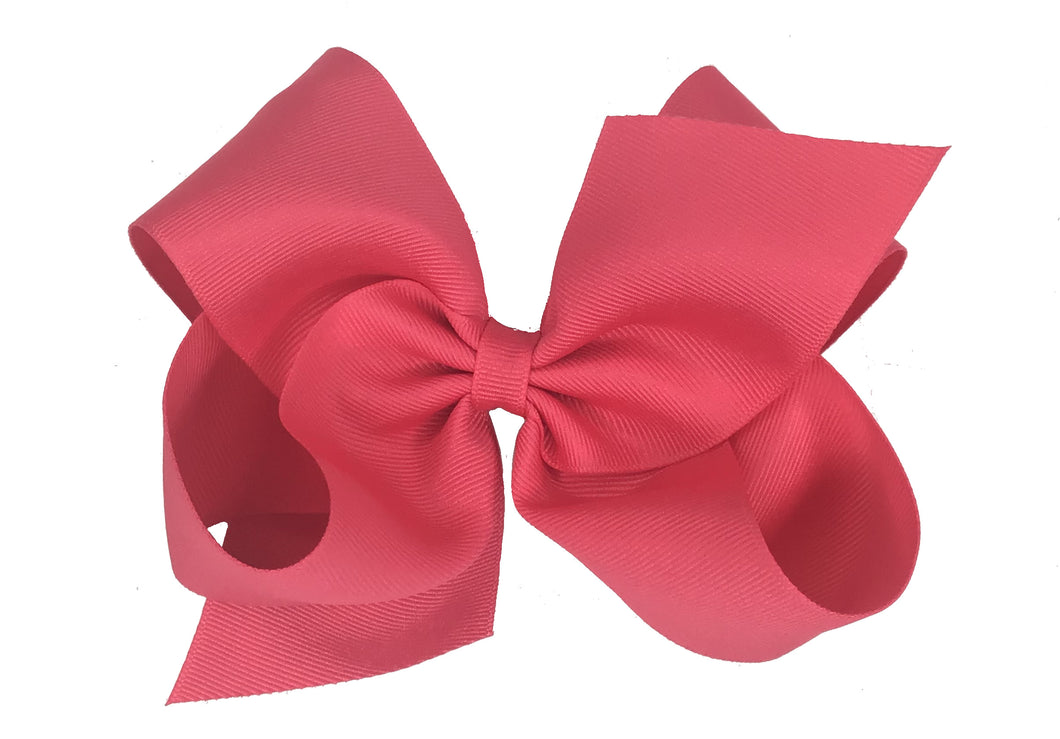 WEE ONES GROSGRAIN FRENCH PINK BOW FRP