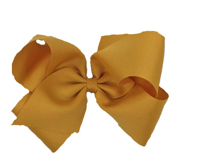 WEE ONES GROSGRAIN SCHIFF GOLD BOW SGD