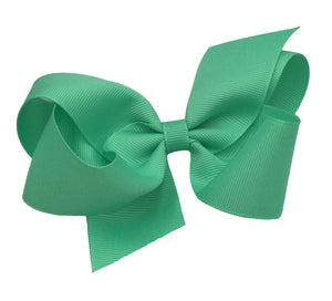 WEE ONES GROSGRAIN NEON GREEN BOW NGR