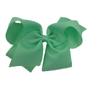 WEE ONES GROSGRAIN MINT BOW MNT