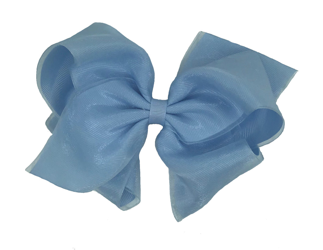 WEE ONES OVERLAY BLUE BOW BLU