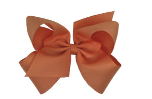 WEE ONES GROSGRAIN PUMPKIN BOW PMK