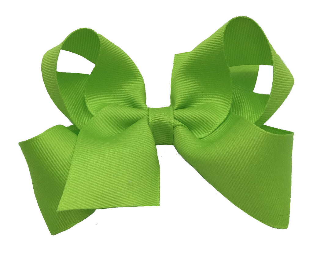 WEE ONES GROSGRAIN NEW CHARTREUSE BOW NCT