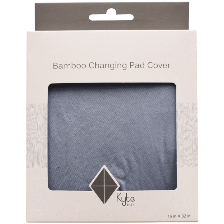 KYTE BABY CHANGE PAD COVER IN SLATE