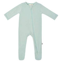 Load image into Gallery viewer, KYTE BABY ZIPPERED FOOTIE SAGE