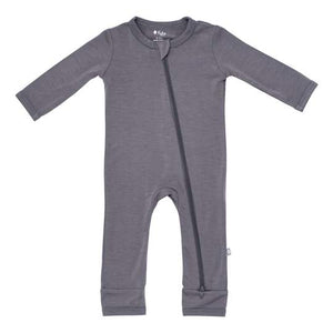 KYTE BABY ZIPPERED ROMPER CHARCOAL