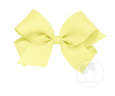 WEE ONES GROSGRAIN LIGHT YELLOW BOW LYL