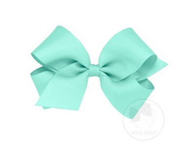 WEE ONES GROSGRAIN NEW AQUA BOW NAQ