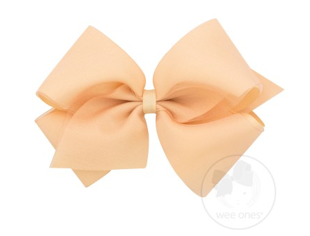WEE ONES OVERLAY NUDE BOW NUD