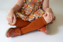 Load image into Gallery viewer, LITTLE STOCKING COMPANY PUMPKIN SPICE LACE TOP KNEE HIGHS