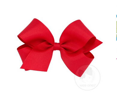 WEE ONES GROSGRAIN RED BOW