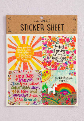 NATURAL LIFE FACE THE SUNSHINE STICKER SHEET
