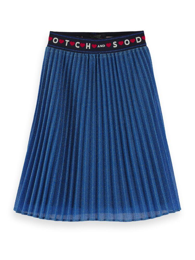 Amsterdam Blauw Pleated Plisse Skirt GIRLS CLOTHING SCOTCH RBELLE