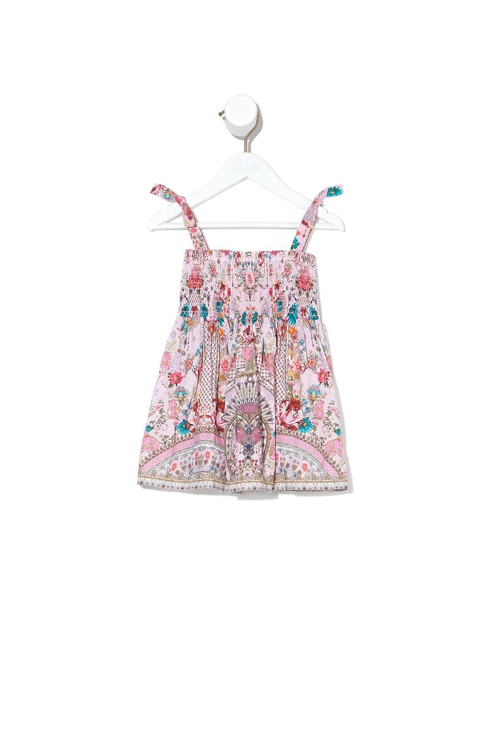 Believe in Love Babies Dress with Shirring BABY CLOTHING CAMILLA