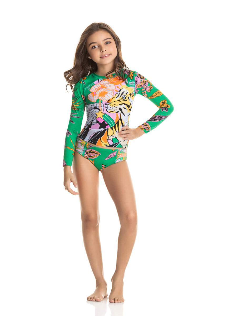 Bengala Cat Rashguard Set LITTLE GIRLS SWIMWEAR MAAJI