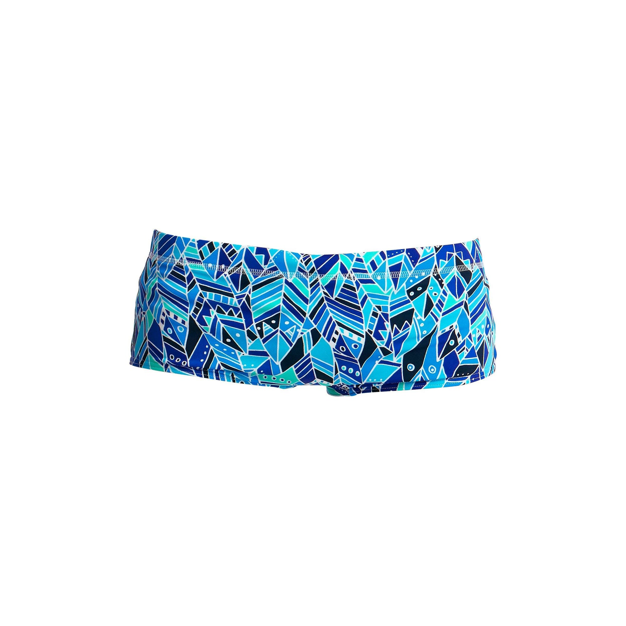 Boys Classic Trunks with Blue Pattern