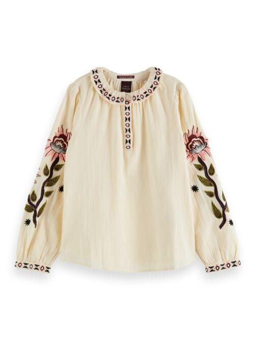 Boho Top with Voluminous Embroidery GIRLS CLOTHING SCOTCH RBELLE