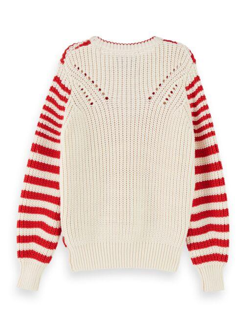 Chunky Cotton Blend Knit Pullover GIRLS CLOTHING SCOTCH RBELLE
