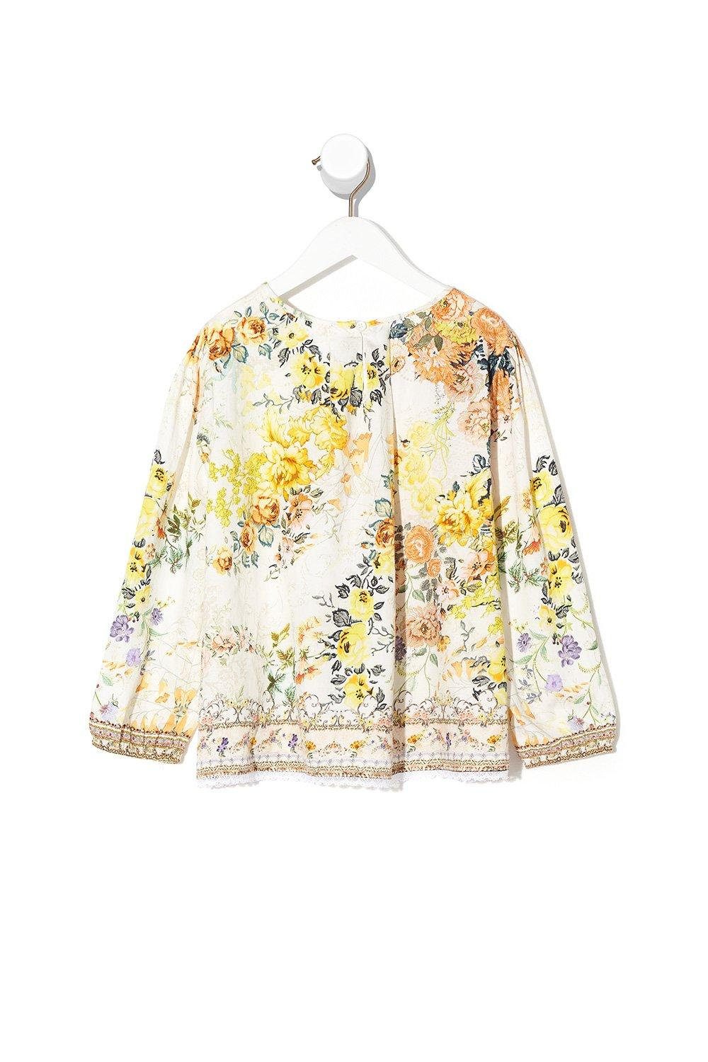 In the Hills of Tuscany Kids Blouse with Pintucking GIRLS CLOTHING CAMILLA