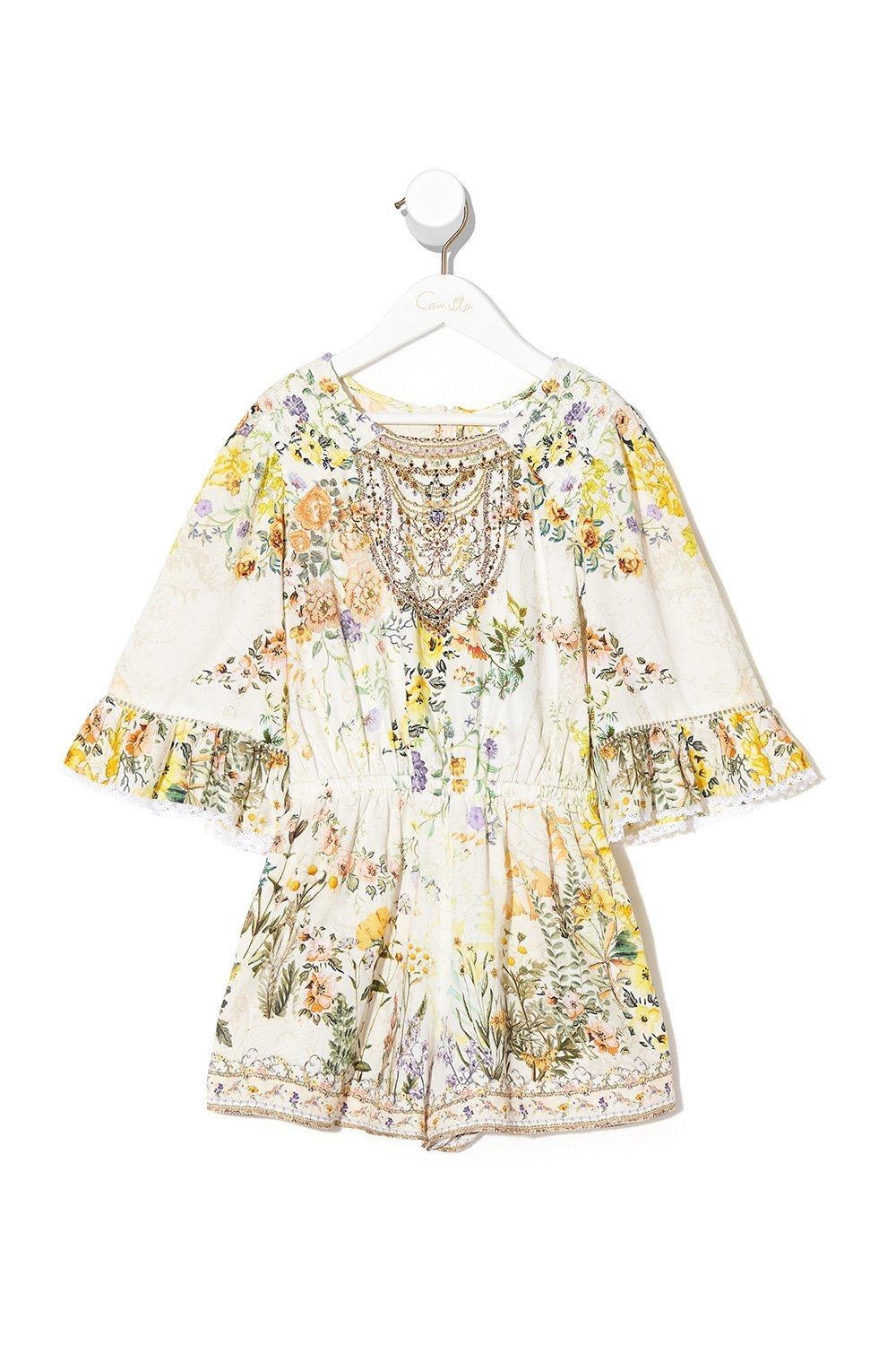 In the Hills of Tuscany Kids Playsuit with Trim GIRLS CLOTHING CAMILLA