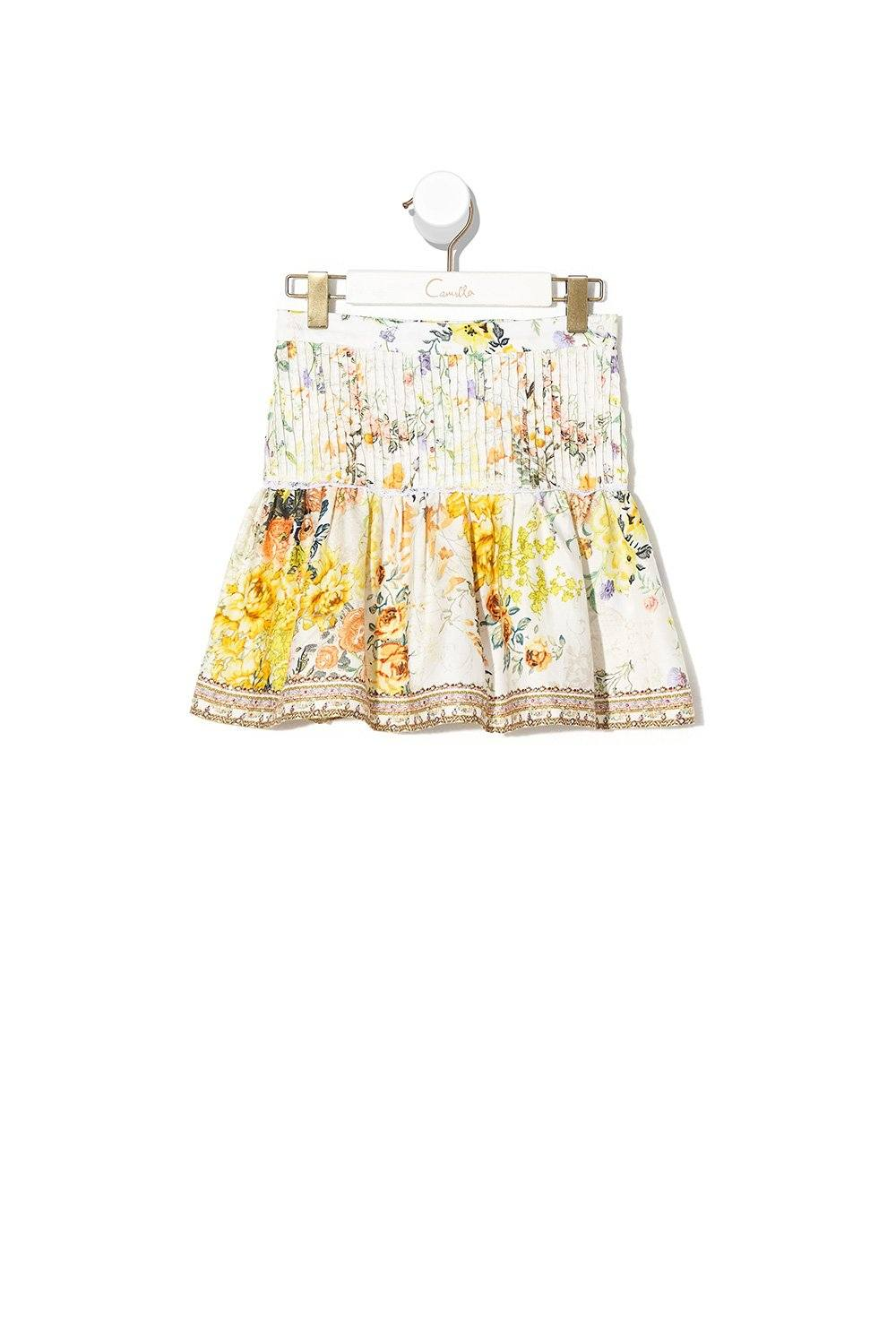 In the Hills of Tuscany Kids Skirt with Pintucking GIRLS CLOTHING CAMILLA