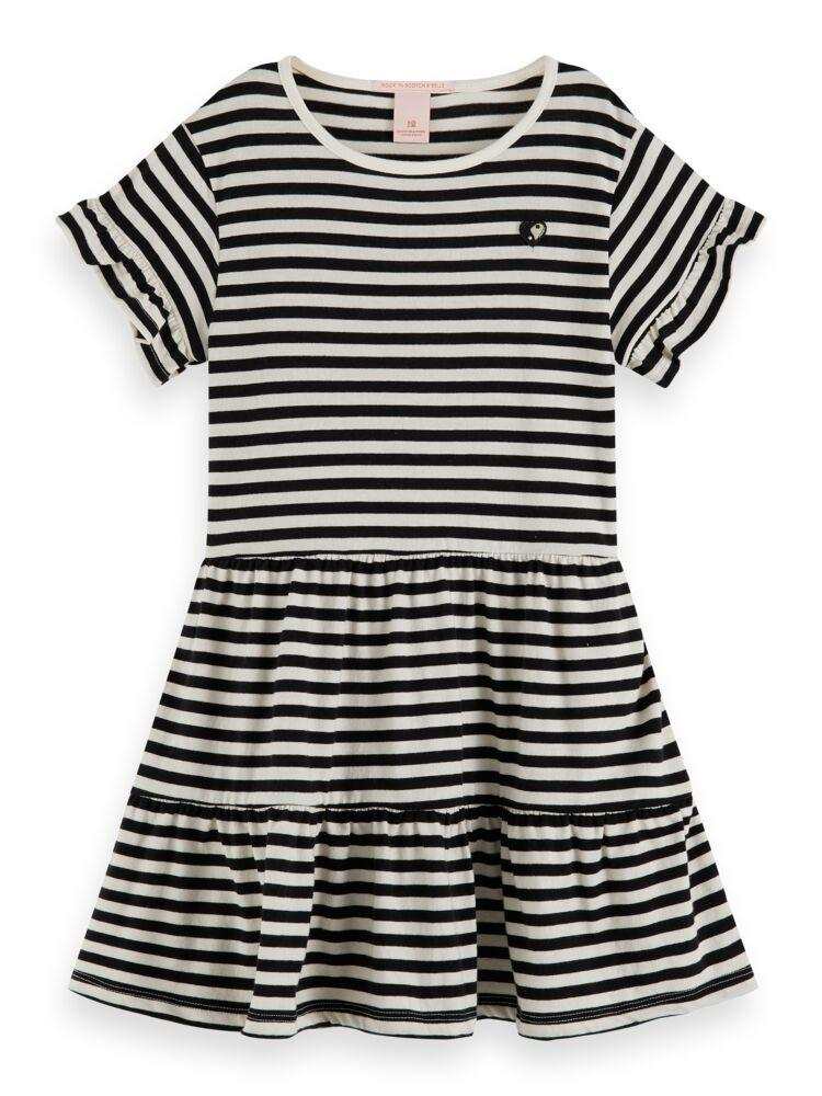 Jersey Striped A-Line Dress GIRLS CLOTHING SCOTCH RBELLE