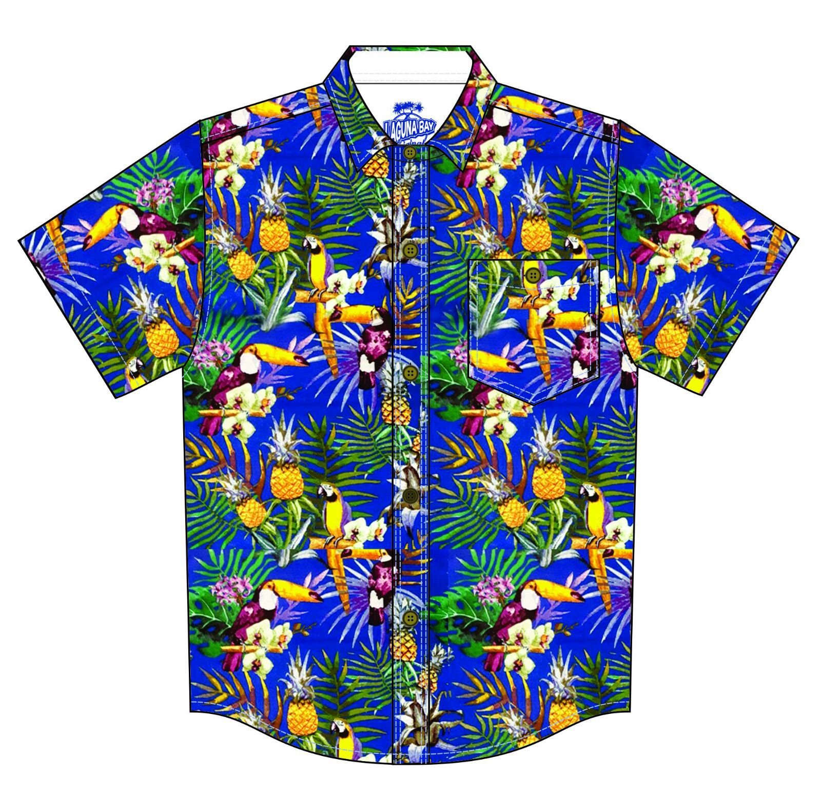 Laguna Bay Tropical Shirt - The Blue Toucan GROMS CLOTHING Laguna Bay